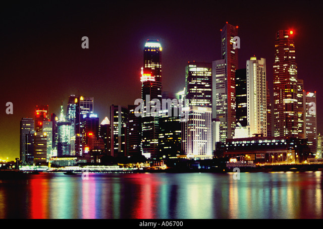 Financial District Singapore - Stock Image