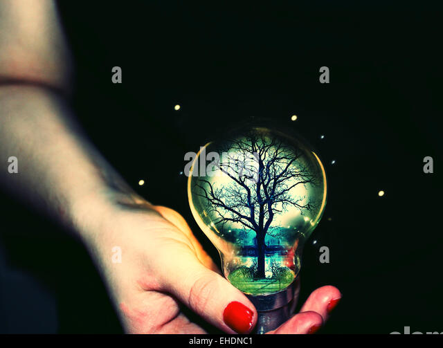 Save energy/ ideas - Stock Image