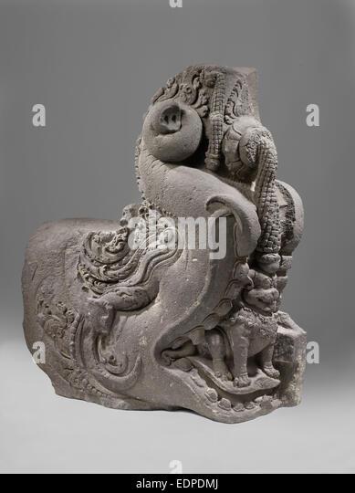Makara,a sea-creature in Hindu mythology, Anonymous, 800 - 900 - Stock Image