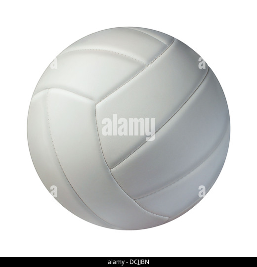 Volleyball isolated on a white background as a sports and fitness symbol of a team leisure activity playing with - Stock Image