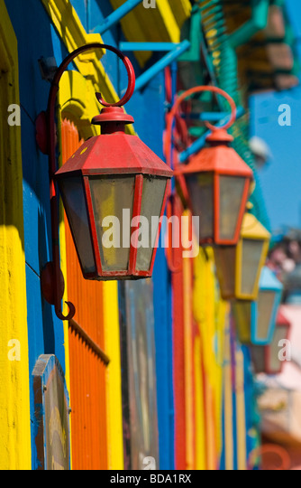 Colorful detail in the neighborhood of La Boca Buenos-Aires Argentina - Stock Image
