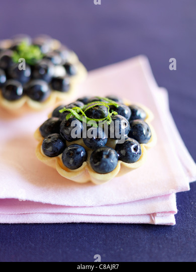 Bilberry tartlet - Stock Image