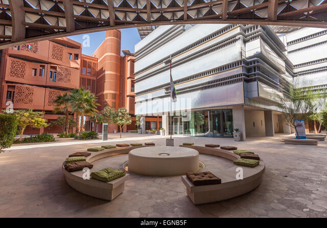 View of the Masdar Institute of Science and Technology, Abu Dhabi - Stock Image