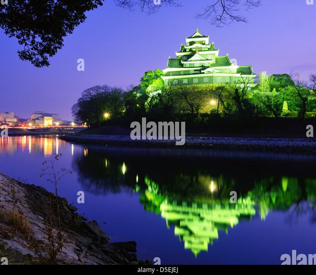 Okayama Castle in Okayama Japan. - Stock-Bilder