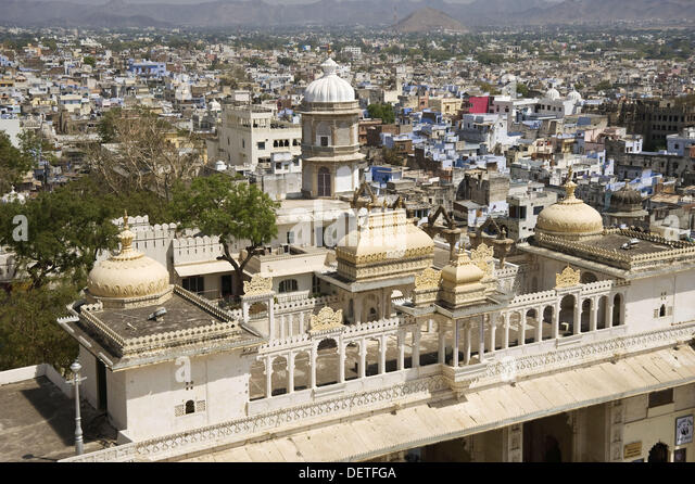 City Palace, Udaipur, Rajasthan, India City Palace, Udaipur, Rajasthan, Inde Stadtpalast, Udaipur, Rajasthan, Indien - Stock-Bilder
