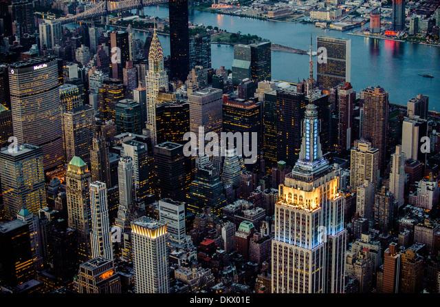 Midtown Manhattan  Aerial photo NYC - Stock-Bilder