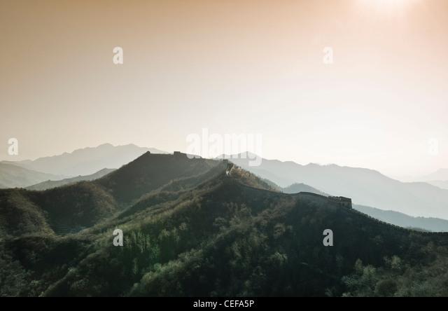 Matianyu Great Wall - Xian, China - Stock Image