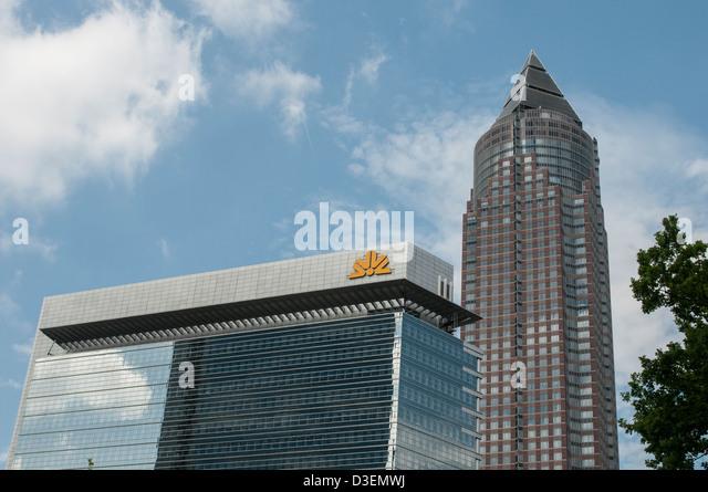 Messeturm Frankfurt am Main, Detail, Architektur, Architecture, Office Building, Bank - Stock-Bilder