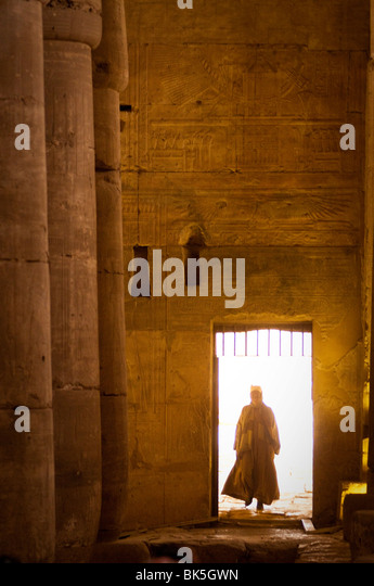 Interior of the Temple of Seti I, Abydos, Egypt, North Africa, Africa - Stock Image