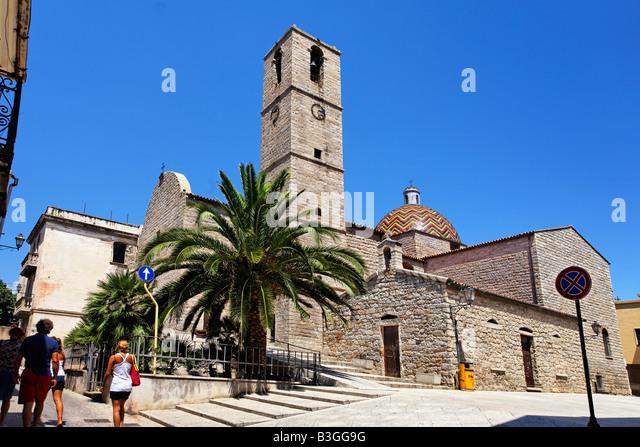 Italy Sardinia Olbia church - Stock Image