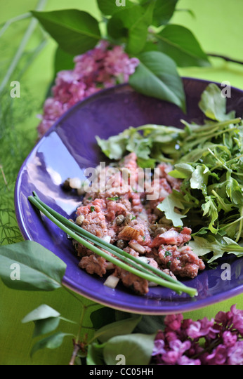 Beef Tartar - Stock Image