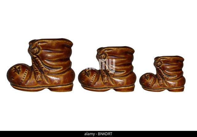 increase decrease size choice of shoe - Stock-Bilder