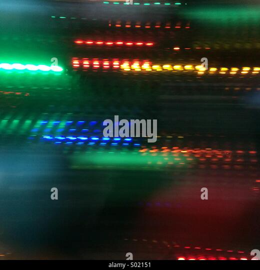 Streaks of light - Stock Image