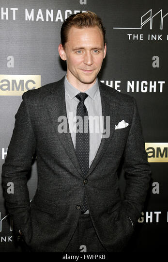 Los Angeles, California, USA. 5th April, 2016. Tom Hiddleston at the Los Angeles premiere of AMC's 'The - Stock Image