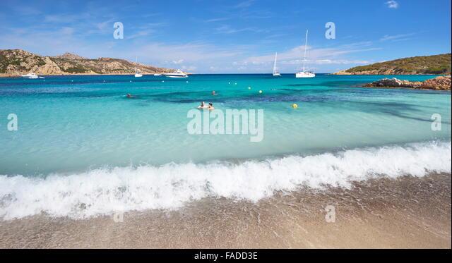 Cala Portese Beach, Caprera Island, Italy - Stock Image