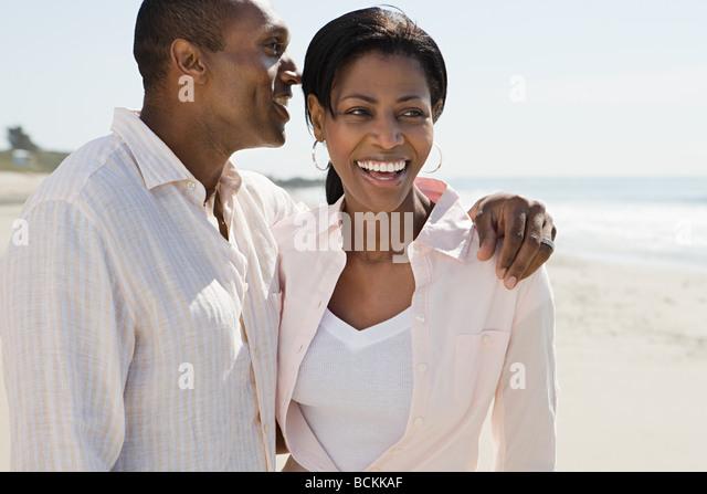Romantic couple on a beach - Stock-Bilder