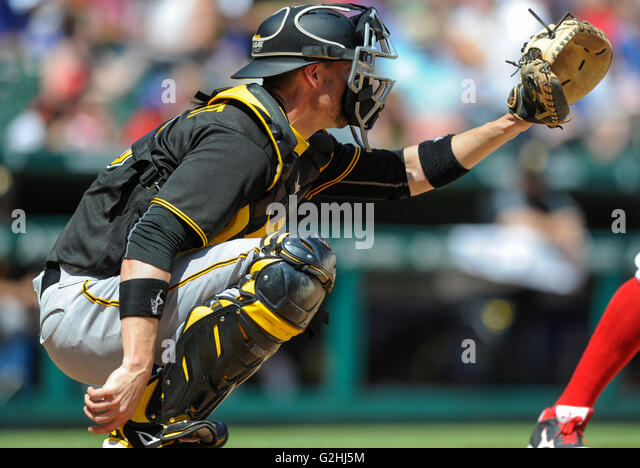 May 29, 2016: Pittsburgh Pirates catcher Chris Stewart #19 during an MLB game between the Pittsburgh Pirates and - Stock-Bilder