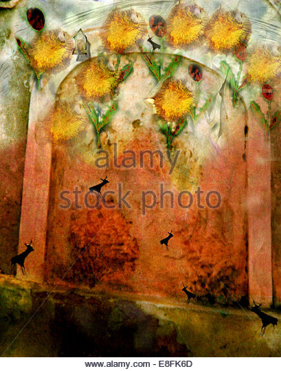 Abstract of flowers - Stock Image