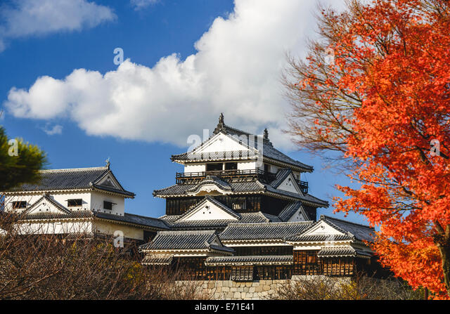 Matsuyama Castle in Matsuyama, Japan. - Stock Image