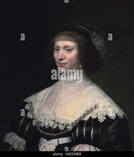 Jan Anthonisz. van Ravesteyn - Portrait of a lady - Stock Image