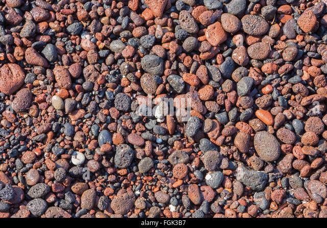 Red Pumice Stone : Pumice stone santorini stock photos