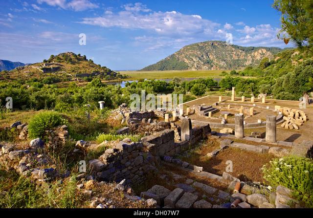 Kaunos Roman archaeological site ruins Turkey - Stock Image