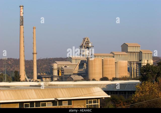 Pretoria city PPC Cement Factory - Stock Image