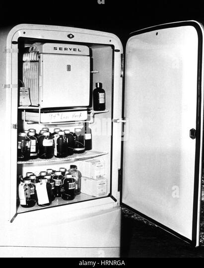 Blood Storage Refrigerator, 1940's - Stock Image