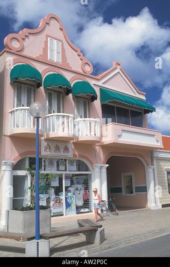 Bonaire Netherlands Antilles shopping mall in Kralendijk - Stock Image