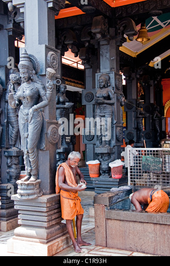 A Hindu temple in Kerala's capital of Trivandrum. - Stock Image