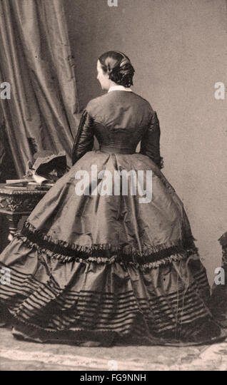 Victorian Dress - Stock Image
