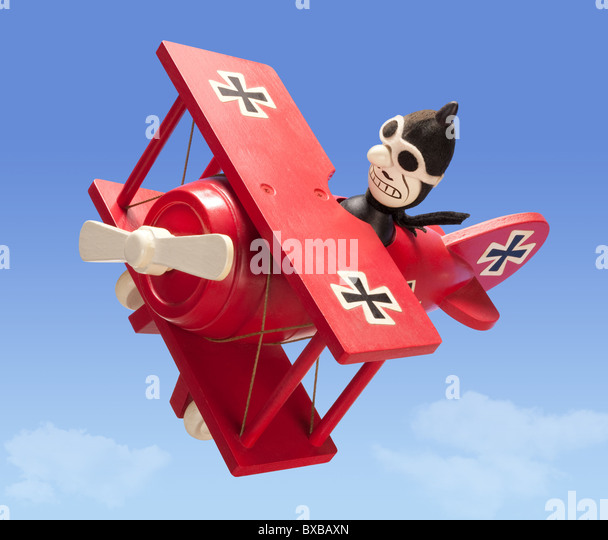 Antique Toy Airplane isolated. - Stock Image