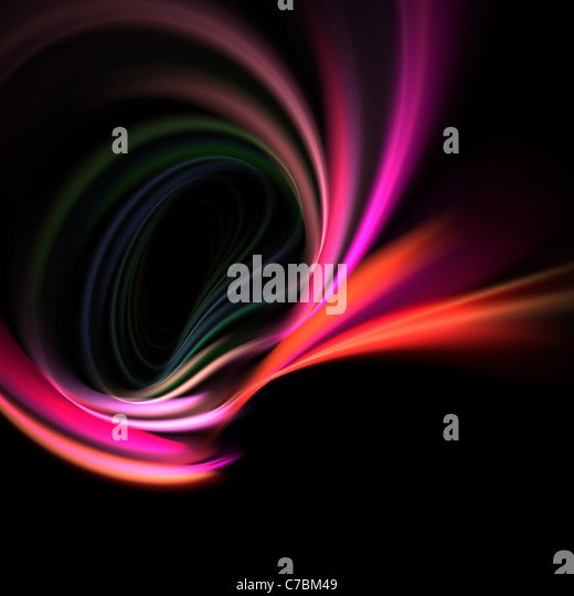 A glowing fractal vortex that works great as a background or backdrop. - Stock Image