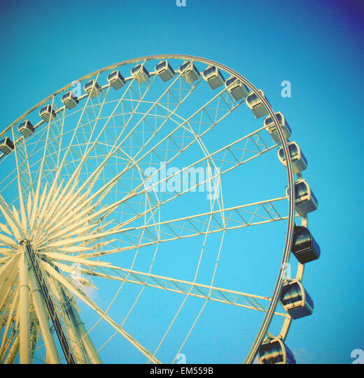 Ferris wheel with filter effect - Stock-Bilder