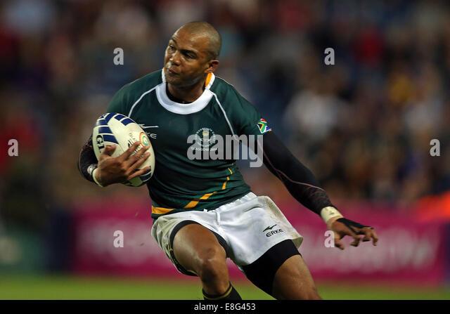 Cornal Hendricks (RSA) in action. South Africa v New Zealand  - Rugby Sevens FinalIbrox stadium - Glasgow - Scotland, - Stock Image