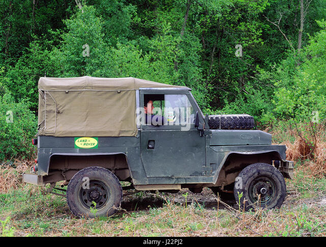 1974 Land Rover military lightweight - Stock Image