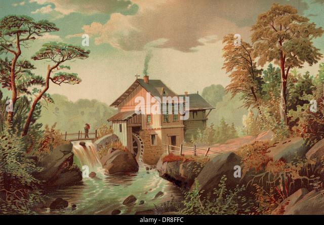 The mountain stream, circa 1882 - Stock-Bilder