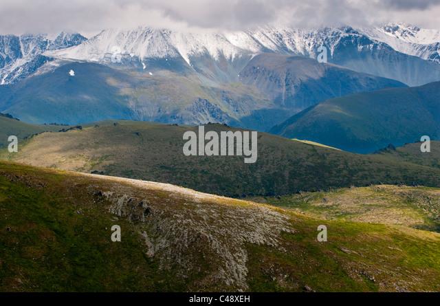 On the trail to Mtn. Belukha, Altai Republic, Siberia, Russia - Stock Image