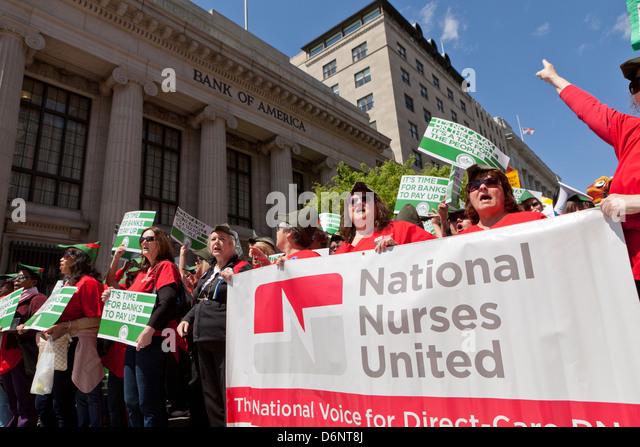 Robin Hood Tax supporters rally  - Washington, DC USA - Stock Image