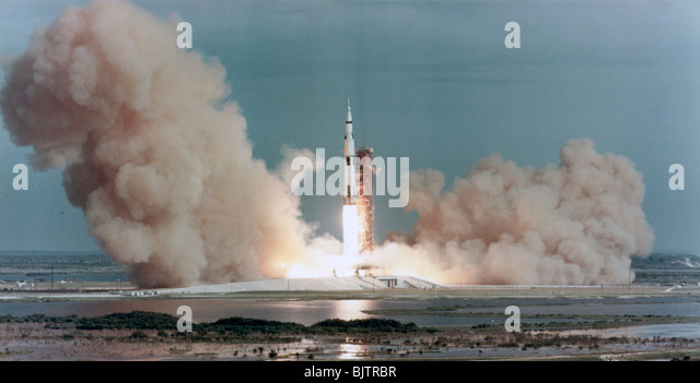 The lift off of Apollo 15, Kennedy Space Center, Florida, USA, 1971. - Stock Image