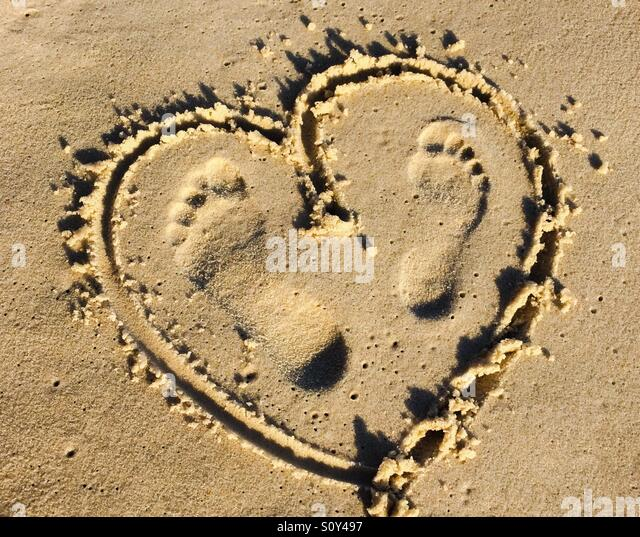 Step on your heart - Stock Image