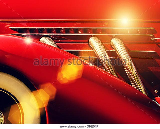 hot rod classic car - Stock Image