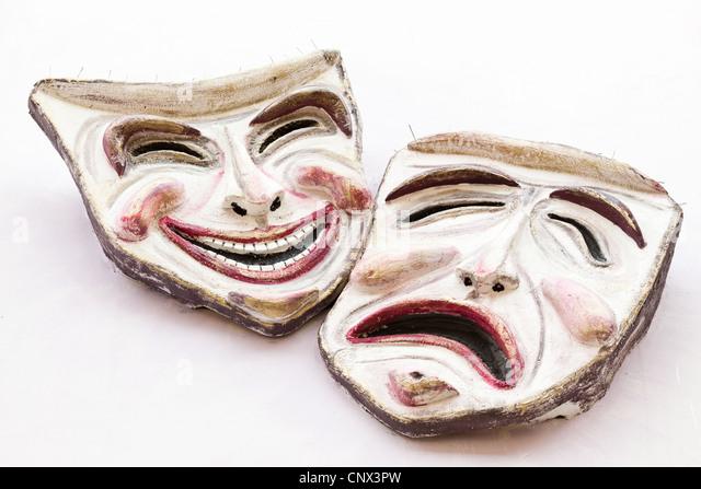 Comedy and tragedy masks, Vasto, Italy - Stock Image