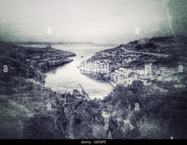Mgarr ix-Xini altered reality - Stock Image