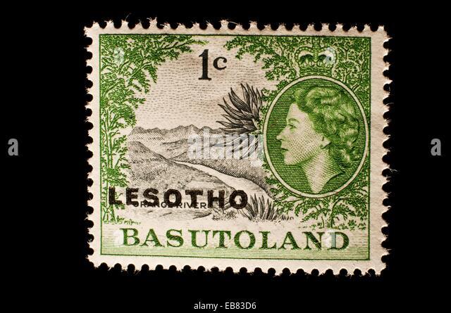 Lesotho Basutoland postage stamp. - Stock Image