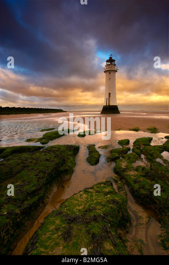 Fort Perch Lighthouse New Brighton UK - Stock Image