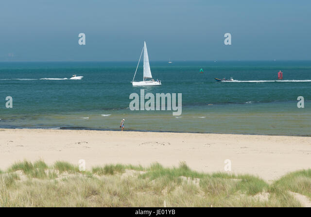Studland Beach, Purbeck Peninsular, Dorset, UK, 21st June 2017. On what might be that last day of the current heat - Stock Image