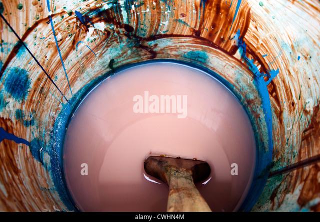 colors,shapes,paintbrush,bucket - Stock Image