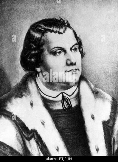 Martin Luther (1483-1546), German monk whose teachings inspired the Lutheran and Protestant traditions, circa 1530s. - Stock Image