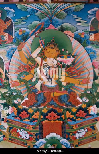 Asien, Indien, Karnataka, Bylakuppe, Goldener Tempel, Buddha - Stock-Bilder